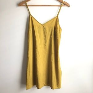 Banana Silky Slip Dress